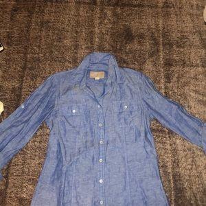 Banana republic soft wash shirt, size S